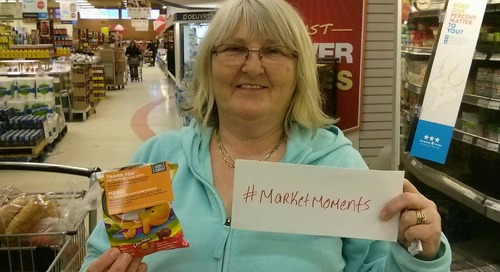 #marketmoments pick an envelope day at Corner Brook Dominion and get a treat