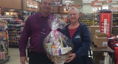 Shirley is our winner of the beautiful Mother's Day basket. Congratulations. #marketmoments