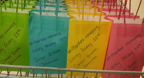 """#marketmoments LUCKY Friday 13th at Corner Brook Dominion popcorn and drink treat bags https"
