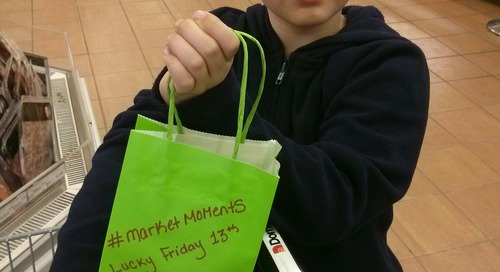 """#marketmoments Lucky Friday 13th at Corner Brook Dominion with free popcorn and coke treat bags. https"