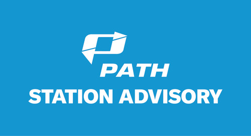 PATH Train. Stay home if you can. Stop the spread.