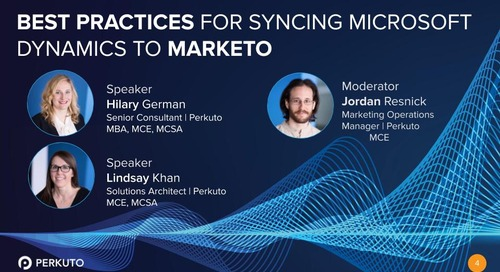 Best Practices for Syncing Microsoft Dynamics to Marketo