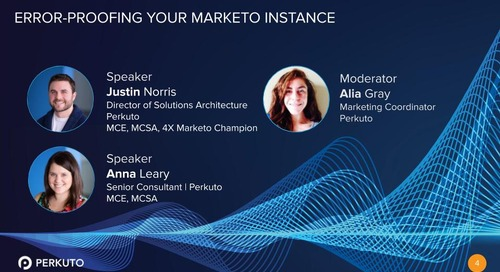 Error-Proofing Your Marketo Instance