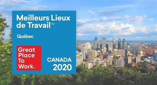 Perkuto certifié comme l'un des Meilleurs Lieux de Travail au Québec