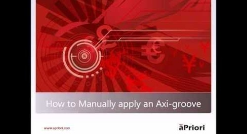How to Manually Apply an Axi-groove