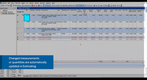 LiveCount integrated with enterprise estimating