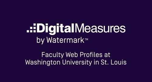Faculty Web Profiles at Washington University in St. Louis