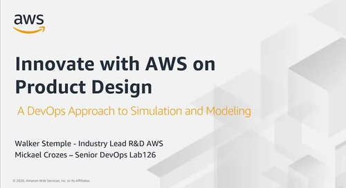 Innovate with AWS in Product Design