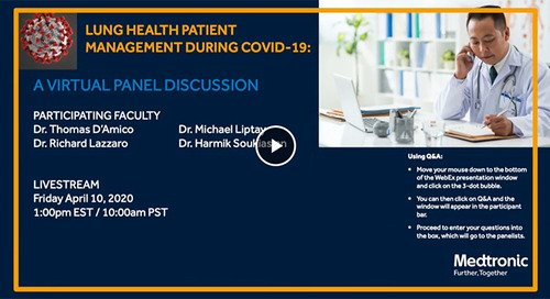 Lung Health Patient Management During COVID-19