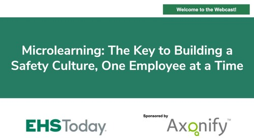 Webinar: Microlearning: The Key to Building a Safety Culture, One Employee at a Time