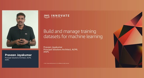 Build and manage training datasets for machine learning (Level 200)