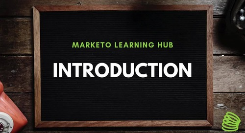 Marketo Training and Learning Hub