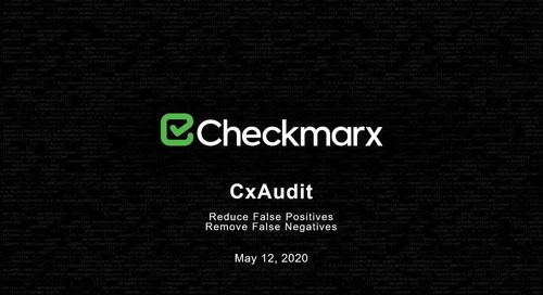 Webinar: How to leverage CxAudit to reduce false positives in your AST scans
