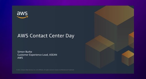 AWS Contact Center Day 2021 Opening