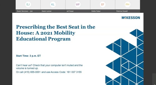 Prescribing the best seat in the house: A 2021 mobility educational program