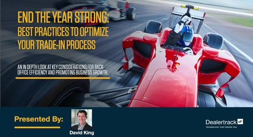 End the Year Strong: Best Practices to Optimize Your Trade-In Process