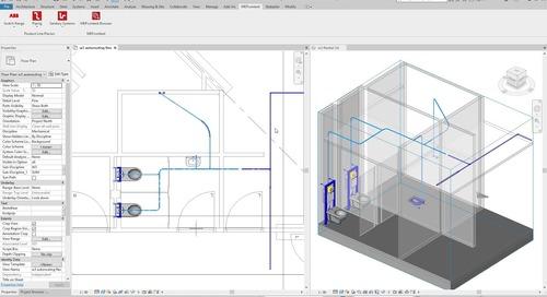 Flexible Piping Design in Revit - MEPcontent Revit Plugins
