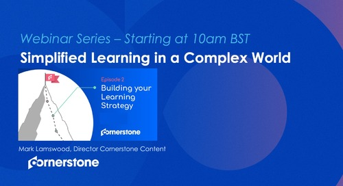 EPISODE 2 – BUILD- Building your Learning Strategy