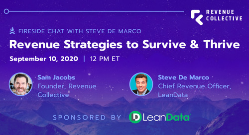 Fireside Chat with Steve De Marco: Revenue Strategies to Survive & Thrive