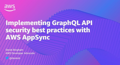 Implementing GraphQL API security best practices with AWS AppSync