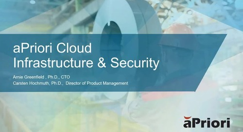 2020-01-16 EMEA Session aPriori Cloud Infrastructure and Security-FINAL