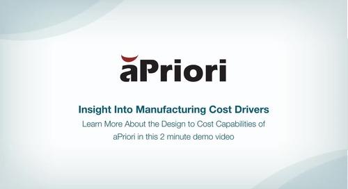 Design to Cost Capabilities of aPriori