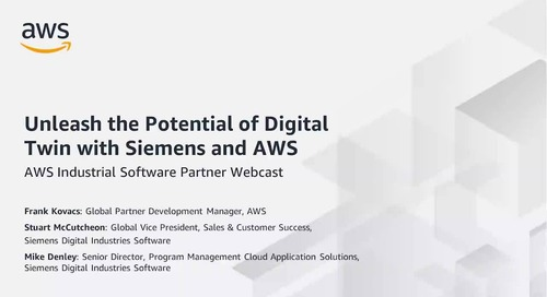 Unleash the Potential of Digital Twin with Siemens and AWS