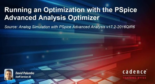 Running an Optimization with the PSpice Advanced Analysis Optimizer