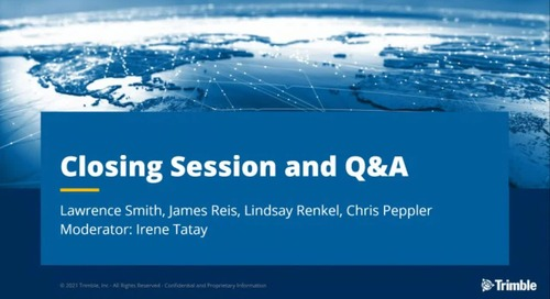 [Trimble MEP Special Event] Closing Session and Q&A
