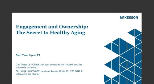 Engagement & ownership: How to infuse healthy aging into any practice setting