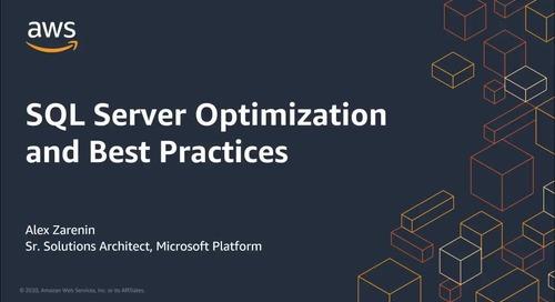 SQL Server Optimization and Best Practices