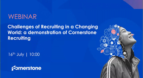 Challenges of Recruiting in a Changing World - a demonstration of Cornerstone Recruiting