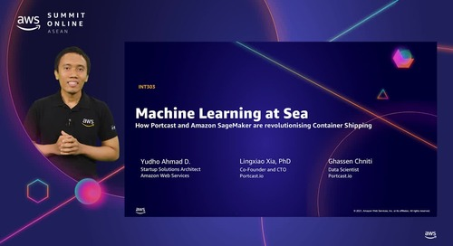 Machine learning: How Portcast & Amazon Sagemaker are revolutionising container shipping [L300]