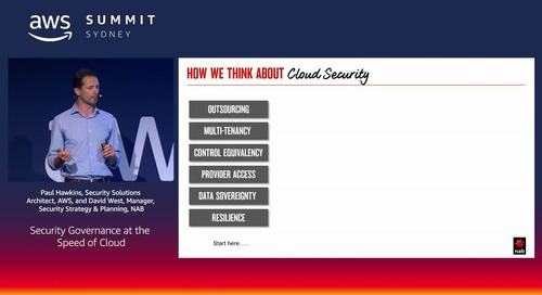 Security Governance at the Speed of Cloud