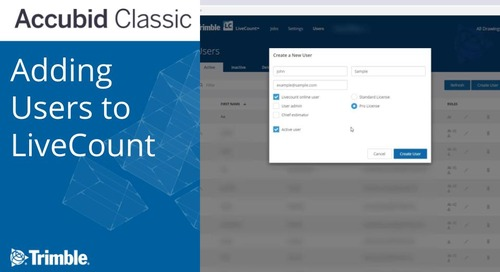 Accubid: Adding Users to LiveCount