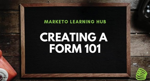 Creating a Form 101