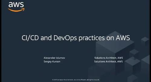 15.05.2019 | Вебинар: CI/CD и практики DevOps на AWS