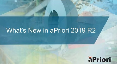 What's New in aPriori 2019 R2 Professional