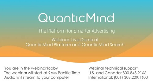 Webinar: Watch the Live Demo of the QuanticMind Platform
