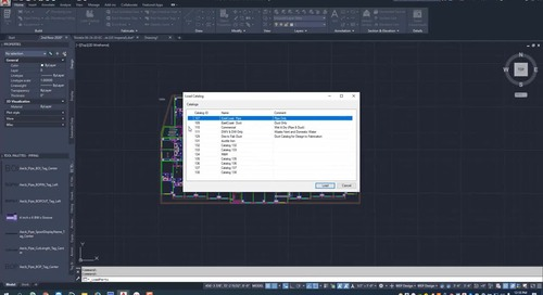 EC-CAD Pipe Training Exercise Part 10: Loading a Catalog