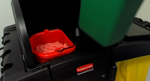 Rubbermaid®: Preparing the cleaning cart