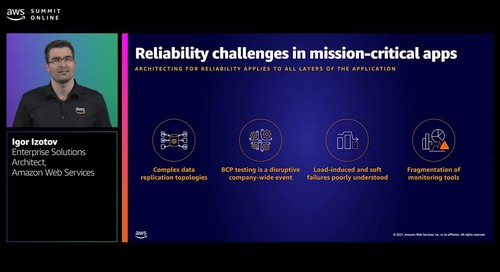 Designing for mission critical applications with Amazon Aurora