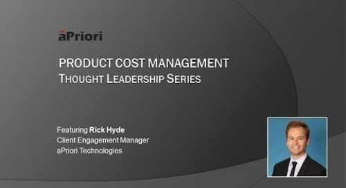 aPriori PCM Thought Leadership Series - Episode 2 [Short Version]
