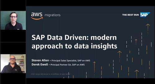 Data driven outcomes with SAP on AWS