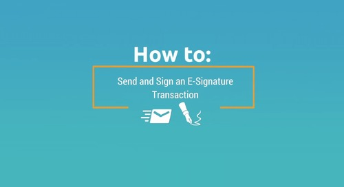 Demo Video: How to Send and Sign Documents