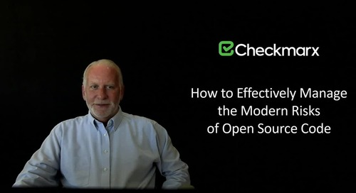 Webinar: Effectively Manage the Modern Risks of Open-Source Code