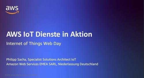 AWS IoT Dienste in Aktion