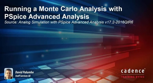 Running a Monte Carlo Analysis with PSpice Advanced Analysis