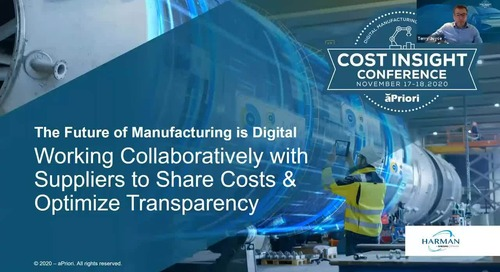 Working Collaboratively with Suppliers to Share Costs & Optimize Transparency