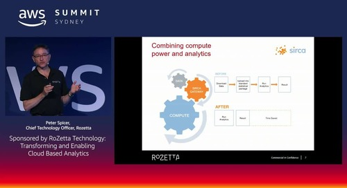 Transforming and Enabling Cloud Based Analytics (Sponsored by RoZetta Technology)